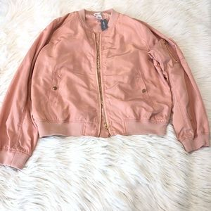 Wet seal plus size pink bomber jacket 2x